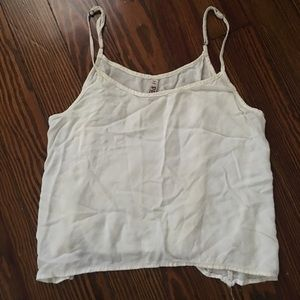 plain basic white tank top